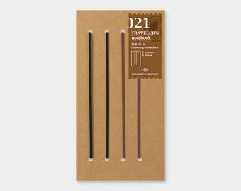 Traveler's Notebook 021 Connecting Rubber Band   Refill for Regular Size Traveler's Notebook   Midori Insert (14333006)