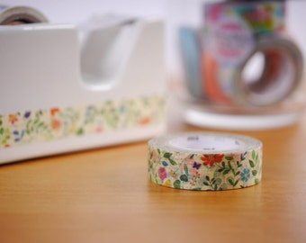 Watercolor Flower Washi Tape | 15mm width Japanese Masking Tape MT Tape (MTEX1P109)