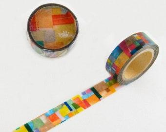 Round Top Little Path x Chamil Garden 2nd Series Rainbow Washi Tape | Japanese Masking Tape, Cute Craft Supplies