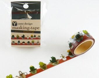 Cactus washi tape, Round Top washi tape, Yano Design Debut Series Natural | Japanese Masking Tape, Cute Craft Supplies