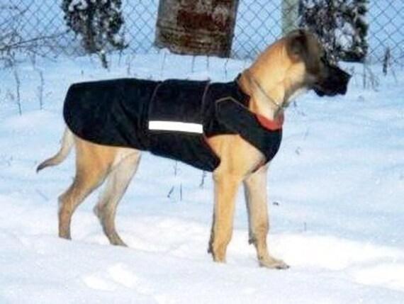 Cane Giacca Cappotto Protezione Di Con Etsy Inverno Alano HFWWvpZS