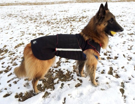 German Shepherd Winter Dog Coat With Underbelly Protection Etsy