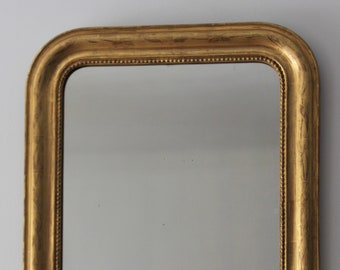 Gold antique mirror: Wall French mirror, Louis Philippe dated from 1896