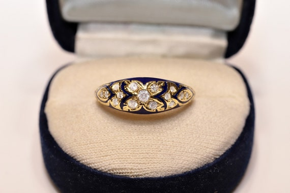 Antique Style 14k Gold New Made Natural Diamond An