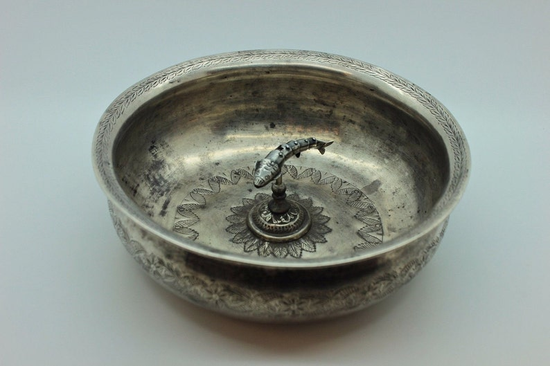 Islamic Antique Original Perfect Silver Islamic Anatolian For Baby Plate Antiques