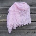 "Knitting pattern ""Orenburg Style Wrap"", Lace Hand Knitted Rectangular shawl, bridal shawl, scarf. Original Design. PDF downloadable pattern."