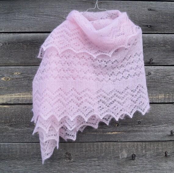 Knitting Pattern Orenburg Style Wrap Lace Hand Knitted
