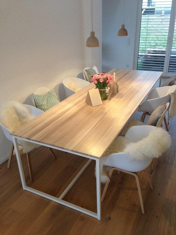 Mesa grande de comedor, mesa, mesa de la cocina, mesa de madera,  escritorio, escritorio, serie única, rectangular, Industrial \