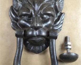 Regency Lions Head Door Knocker Cast Iron House Door Knocker With Strike  Plate