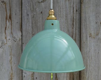 Pendant lamp shade etsy vintage green grey industrial small hanging light pendant ceiling lamp shade bl2g3 aloadofball Image collections