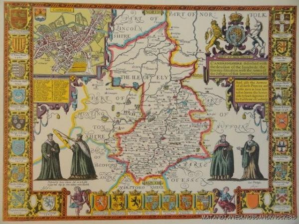 SUSSEX Framed /& Mounted Hand Coloured Replica John Speed 1610 Old map FREE POST