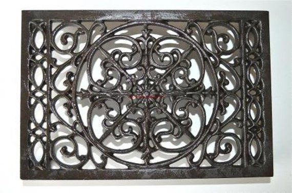 Fantastic large round cast iron victorian style grill air vent cover 8 inch HX1