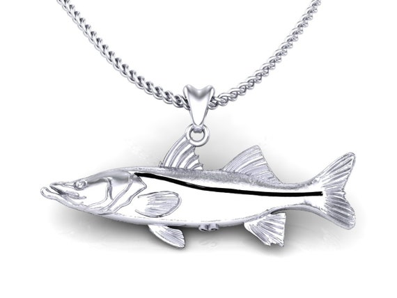 Custom Largemouth Bass fish Pendant in solid .925 Sterling Silver!!!!