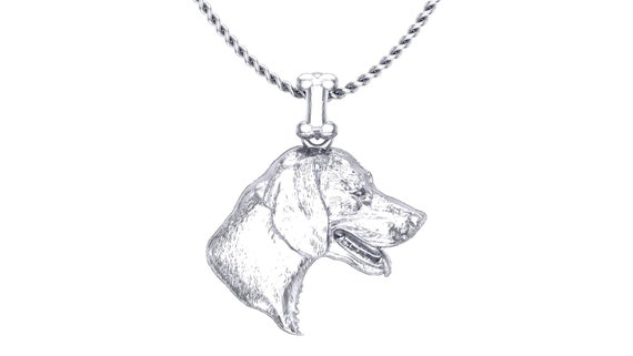 Sterling Silver Beagle Pendant Head
