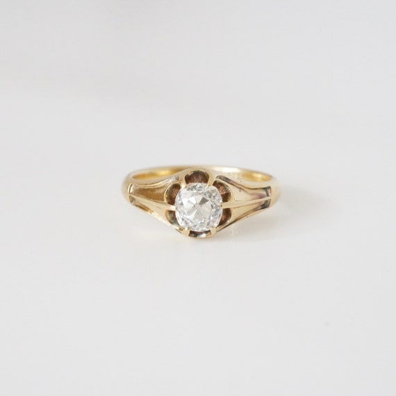 Antique Engagement Ring, Mens Engagement Ring, Vi… - image 2