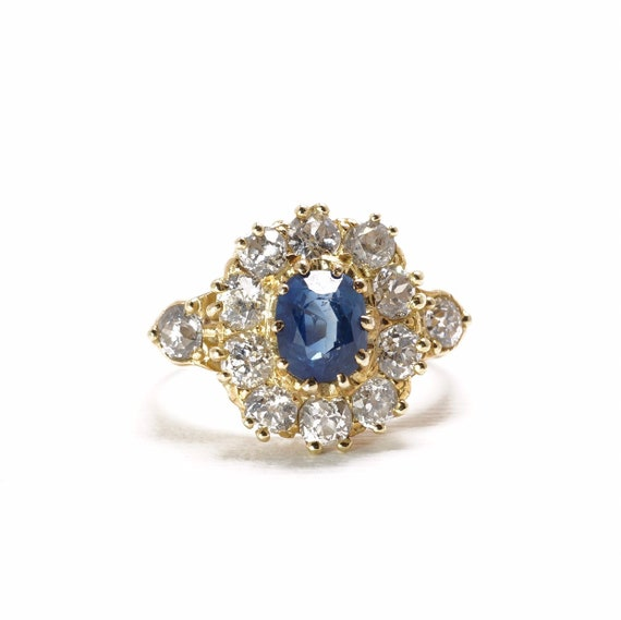 Antique Sapphire Ring | Halo Ring | Something Old