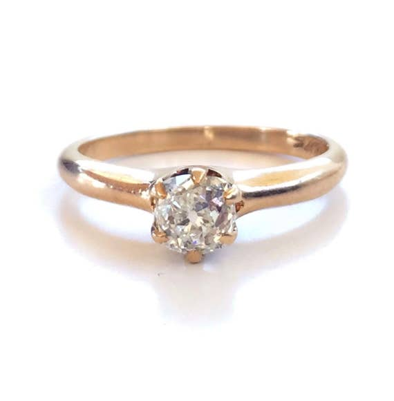 Antike Verlobungsring Antik Ring Diamant Ring Gold Ring Etsy