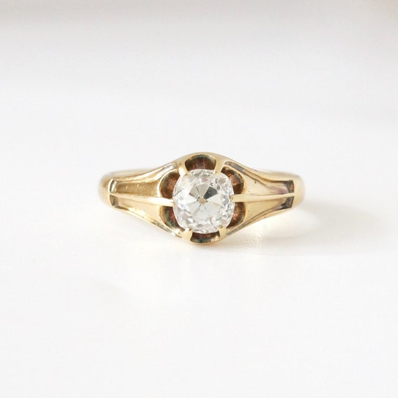 Antique Engagement Ring, Mens Engagement Ring, Vi… - image 1
