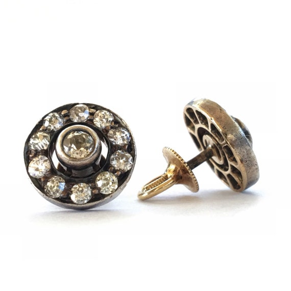 Antique Earrings   Diamond Earrings   Victorian Ea