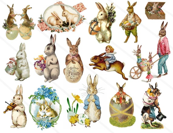 Easter clipart Vintage clipart easter eggs ephemera victorian | Etsy