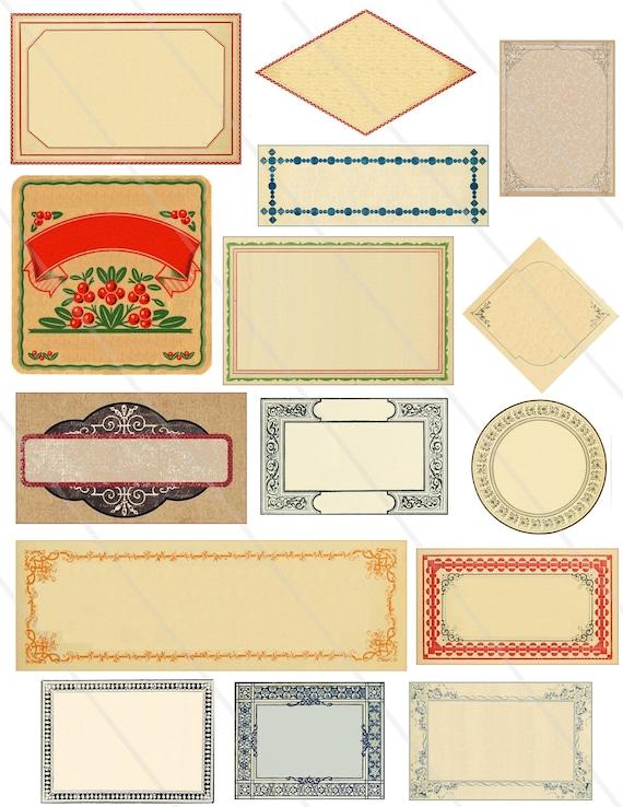 15 Etiquettes A Imprimer Etiquette Numerique Etiquettes Etsy