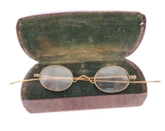 49b240dc4de Antique Round Eyeglass Spectacles - FREE SHIPPING
