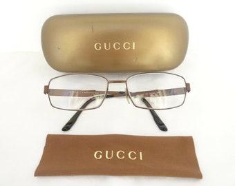 fb3357336af Vintage Gucci Prescription Eyeglass Frames Eyeglasses GG 1883 B8A