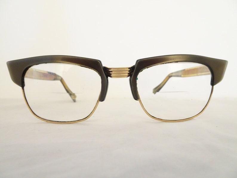 2f2621886f52 Vintage A.M.S.A 1/20 14K Gold Filled Rockabilly Eyeglass | Etsy