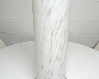 Vintage Frosted faux Marbled Glass Table Lamp - FREE SHIPPING