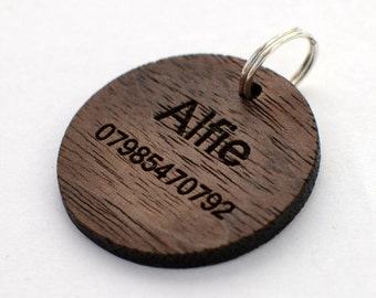 Personalised Wooden Pet Tag - Dog Tag - Engraved Dog Tag - Dog Tags For Dogs - Pet ID Tag