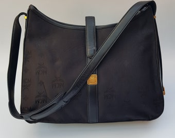 86d0a9a89 MCM Visetos Vintage Black Shoulder Bag. German designer purse.