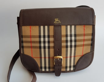 7f29f235b6f0 BURBERRY Bag. Burberrys Beige Check Tartan Shoulder Bag . British designer  purse.
