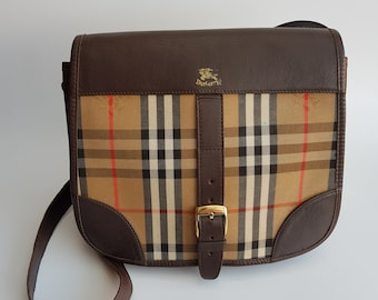BURBERRY Bag. Burberrys Beige Check Tartan Shoulder Bag . British designer  purse. f0485e3c676c1
