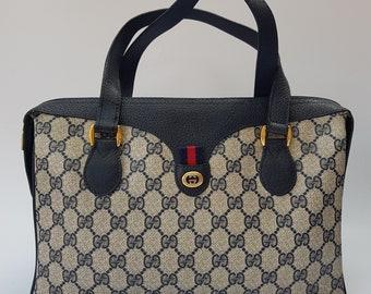 eea77dc8bfa GUCCI Bag. Gucci Ophidia Vintage Blue   Navy Monogram Bag. Italian designer  purse.