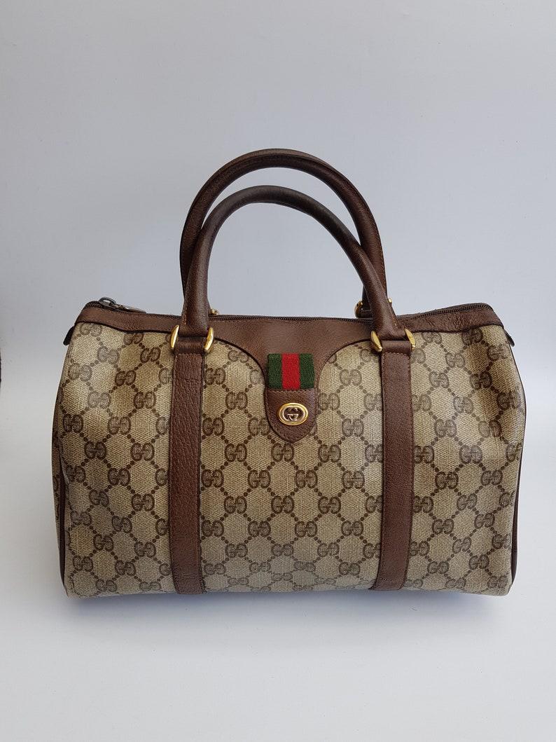 937393cafd21e5 GUCCI Bag. Gucci Vintage Ophidia GG Supreme Brown / Beige | Etsy