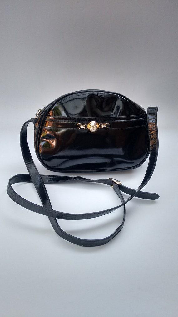 Sale FERRAGAMO Salvatore Ferragamo Vintage Black Patent  4c229bbc418cb