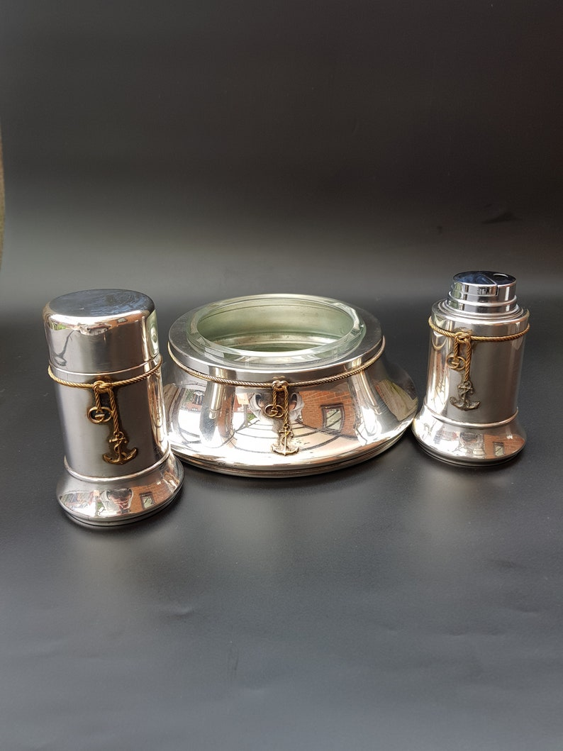 9e4adcf62d0 Gucci interior set gucci anchor motive ashtray cigarette case etsy jpg  794x1059 Vintage gucci ashtray