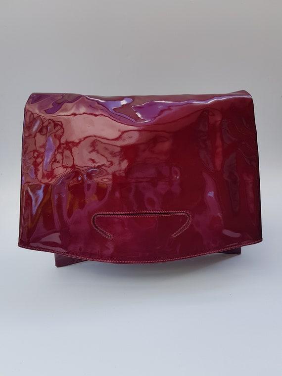 8a30170bf1dc Sac GUCCI. Gucci Vintage Bordeaux marron en cuir rouge   Etsy