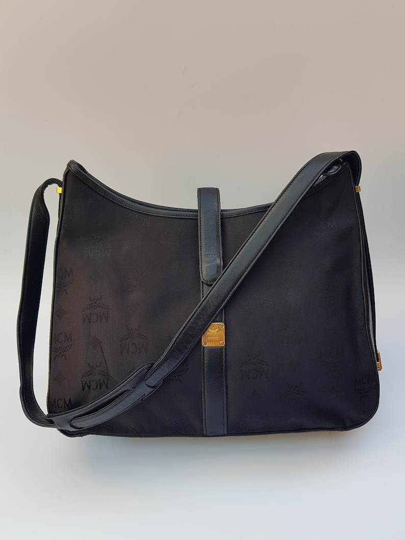 08ec0b5e84 MCM Bag. MCM Visetos Vintage Black Shoulder Bag. German