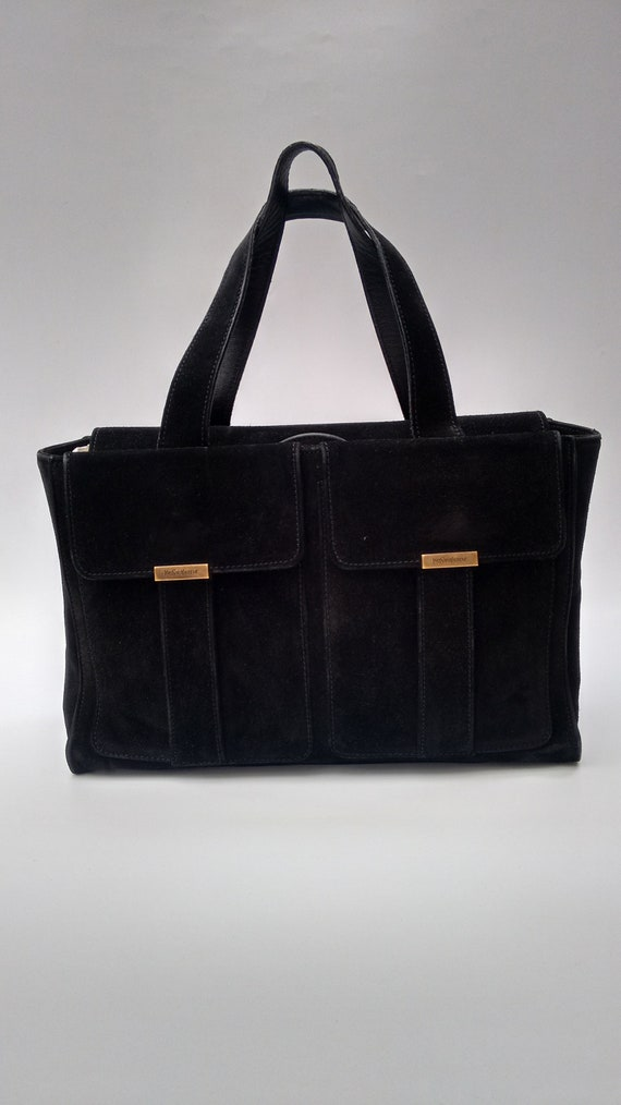 Sale YSL Bag. Yves Saint Laurent Vintage Black Suede Leather  a4598269747f6
