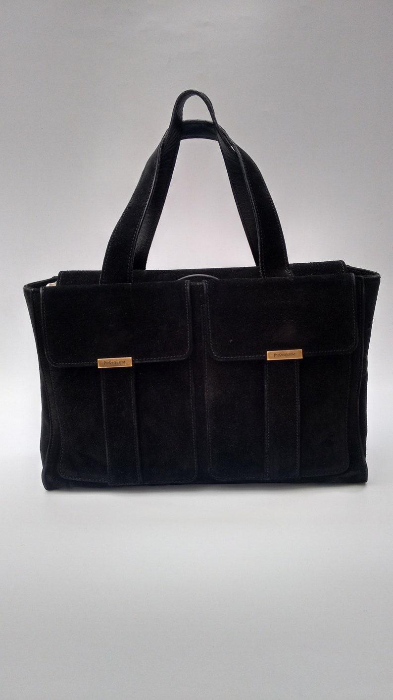 a62244dafd8b2 Sale YSL Bag. Yves Saint Laurent Vintage Black Suede Leather