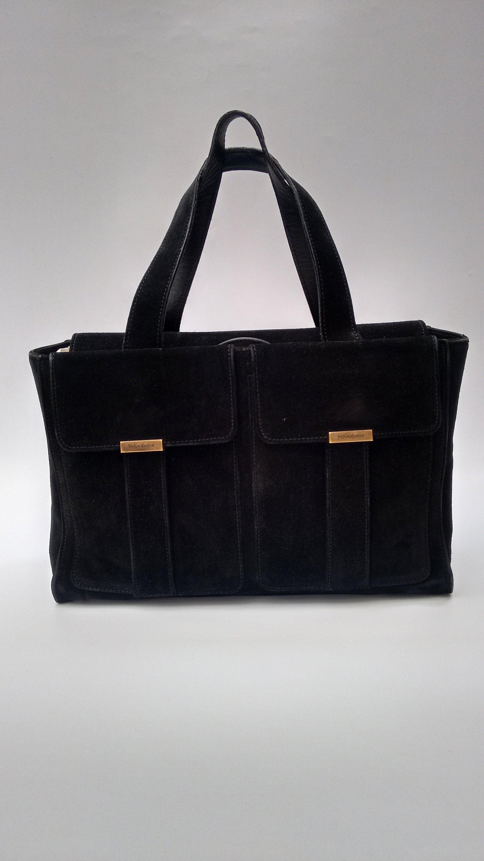 1ce3a34b73c Sale YSL Bag. Yves Saint Laurent Vintage Black Suede Leather