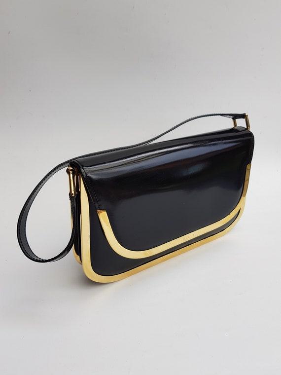 GUCCI Bag . Gucci Vintage Black  Leather  Shoulder