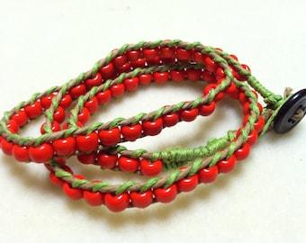 20 inch Hand Woven Beaded Bracelet