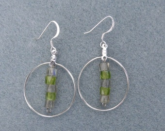 Unique Glass and Metal Earring