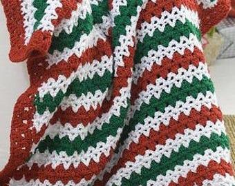 Crochet Christmas Blanket,Crochet Christmas Afghan,Crochet Christmas Throw,Holiday Blanket,Holiday Afghan,Holiday Throw,Blanket,Afghan,Throw