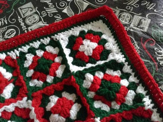 Crochet Christmas Blanketcrochet Christmas Afghancrochet Etsy