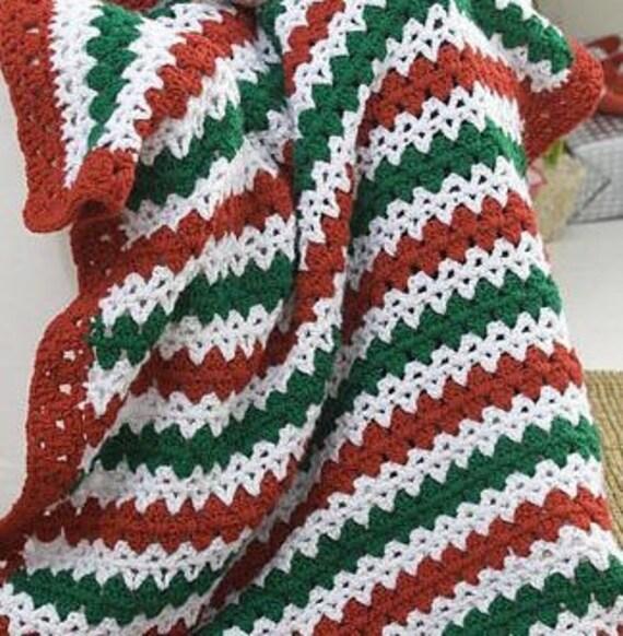 Weihnachtsdecke häkeln Weihnachten afghanische häkeln | Etsy