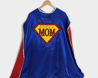 Mom Gift Superhero Cape for Moms Super Mom Superhero Cape Free Shipping Mother/'s Day Gift! Mom Cape Superhero Cape