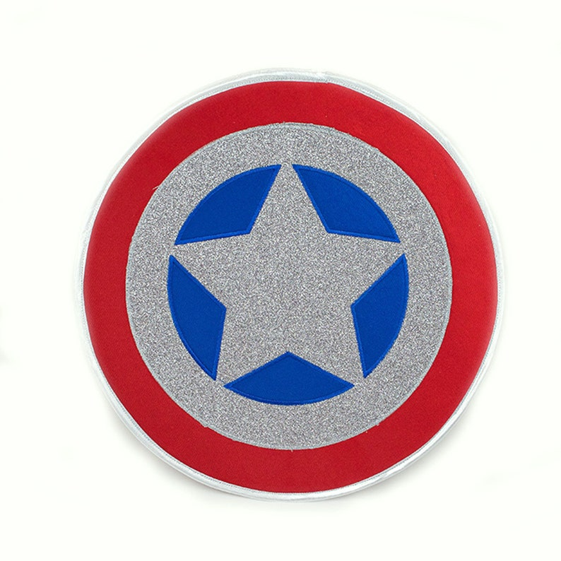 Red and Blue Superhero Shield for Kids